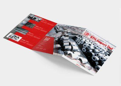 Katalog składany A4 dla firmy BTH Import Stal